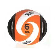 Medicine ball alça 6kg borracha laranja unisex yoga red nose