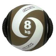 Bola de peso 8kg com alça medicine ball oneal