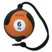 Medicine ball corda 6kg borracha laranja unisex yoga oneal