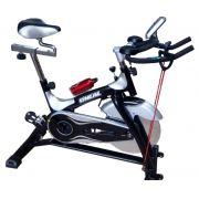 Bicicleta ergometrica spinning prata 140kg oneal tp2000