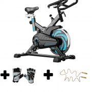 Bicicleta ergometrica spinning luvas academia corda de pular