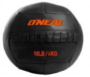 Wall ball bola de areia couro 6kg crossfit preta oneal