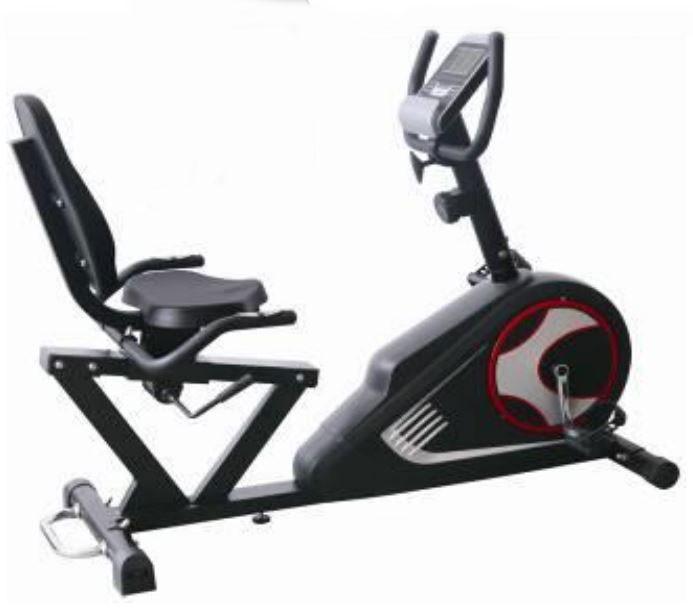 Bicicleta ergometrica horizontal preta 100kg oneal tp939