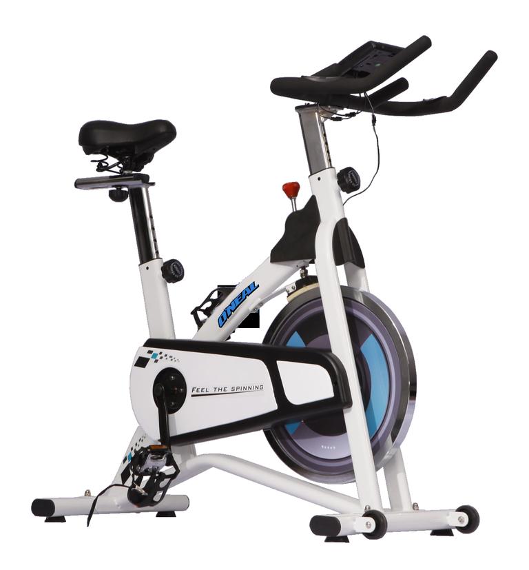 Bicicleta ergometrica spinning branca 120kg oneal bf069