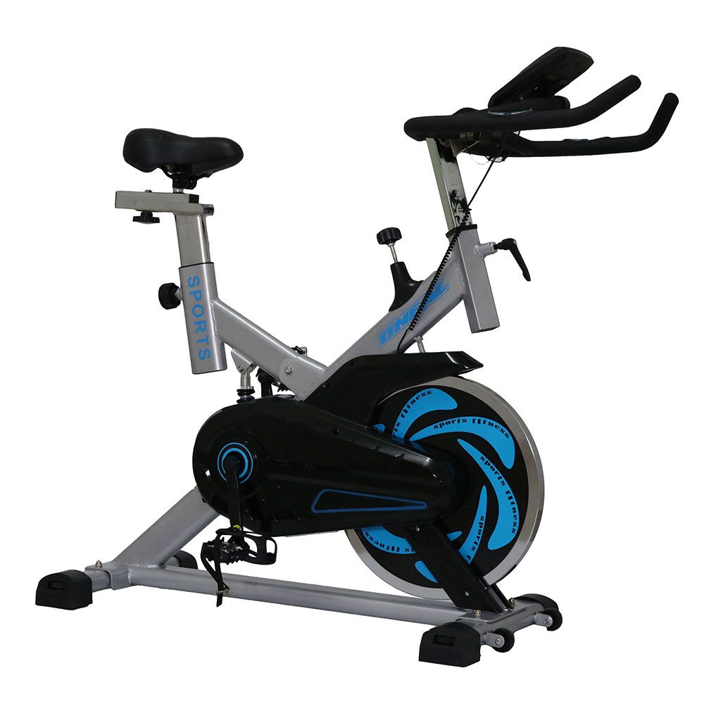 Bicicleta ergometrica spinning prata 120kg oneal tp1000
