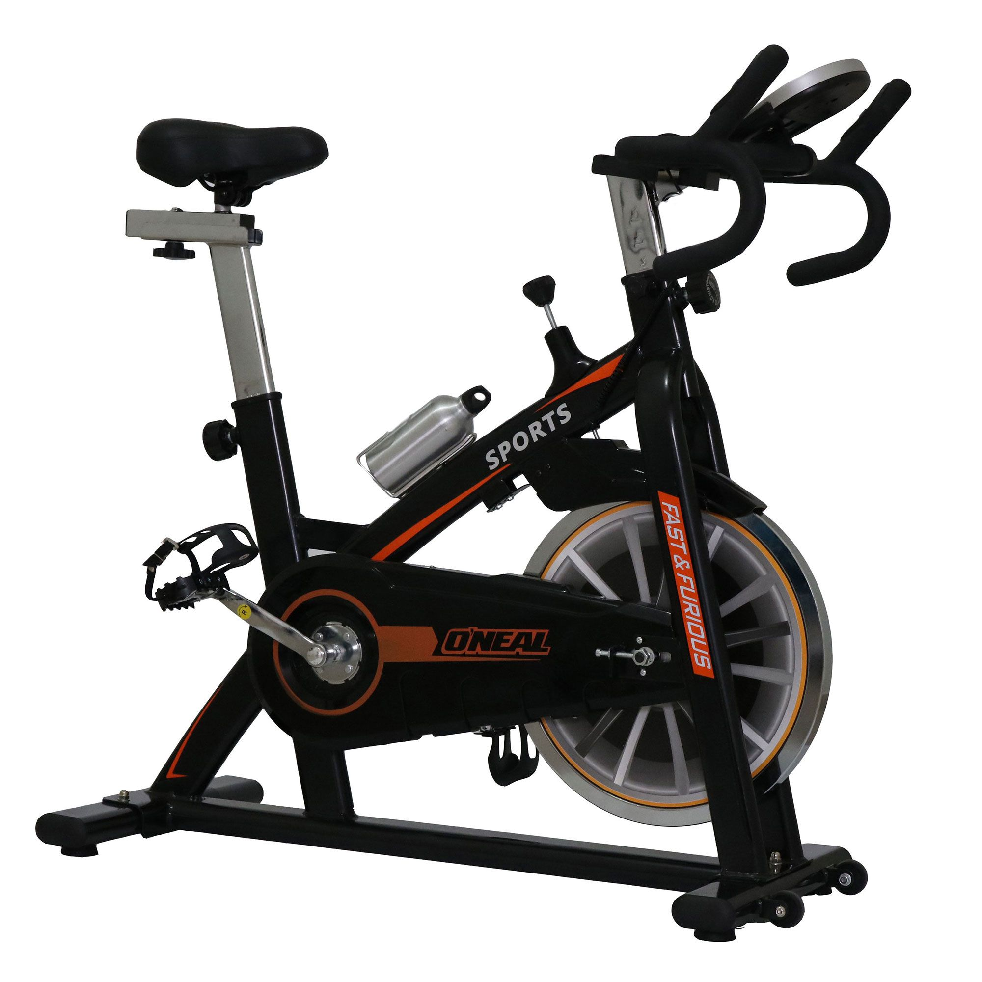 Bicicleta ergometrica spinning preta 120kg oneal tp1100