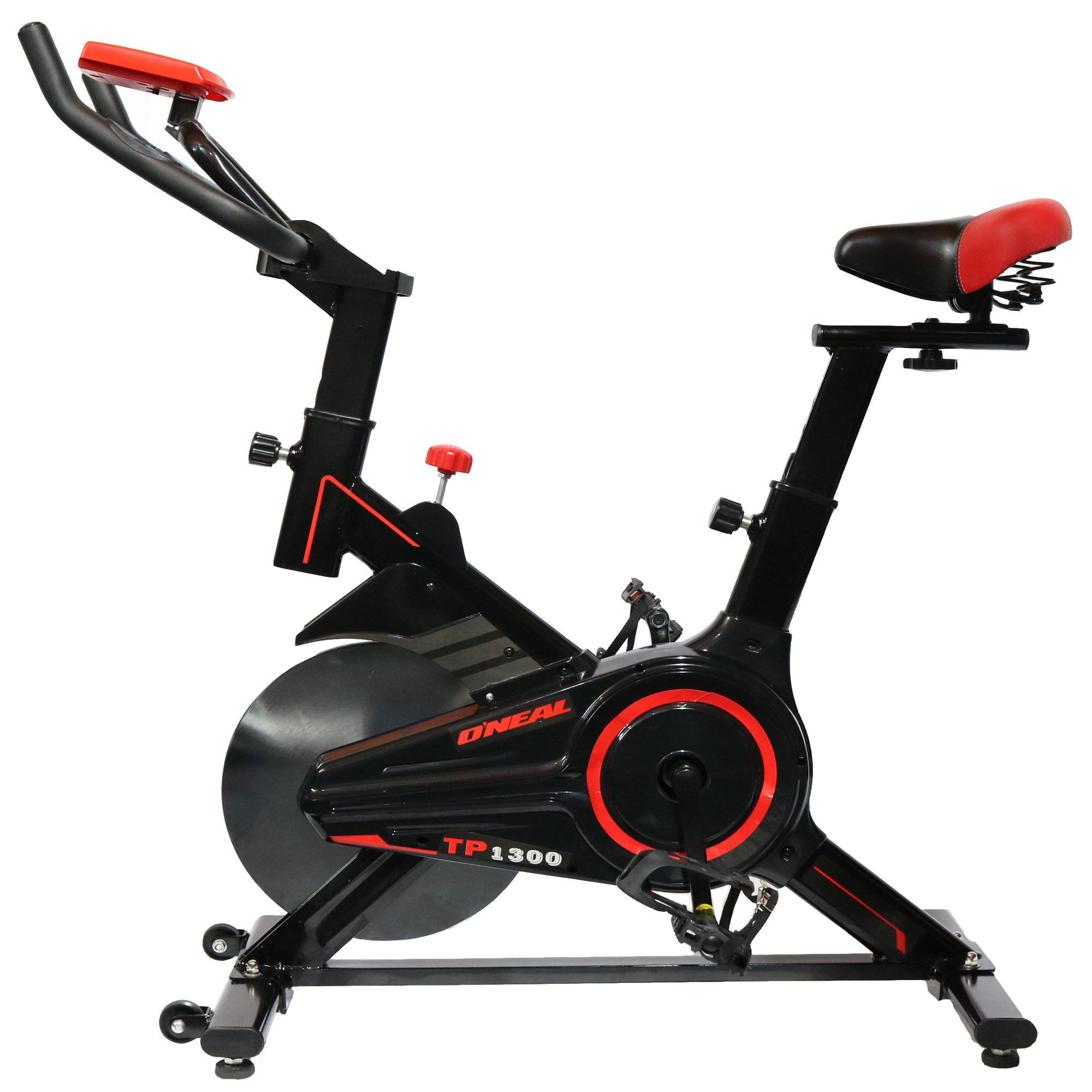 Bicicleta ergometrica spinning preta 90kg oneal tp1300