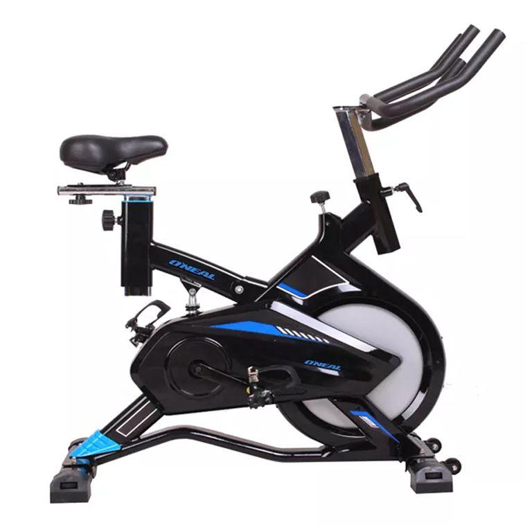Bicicleta ergometrica spinning preta azul 120kg oneal tp1900