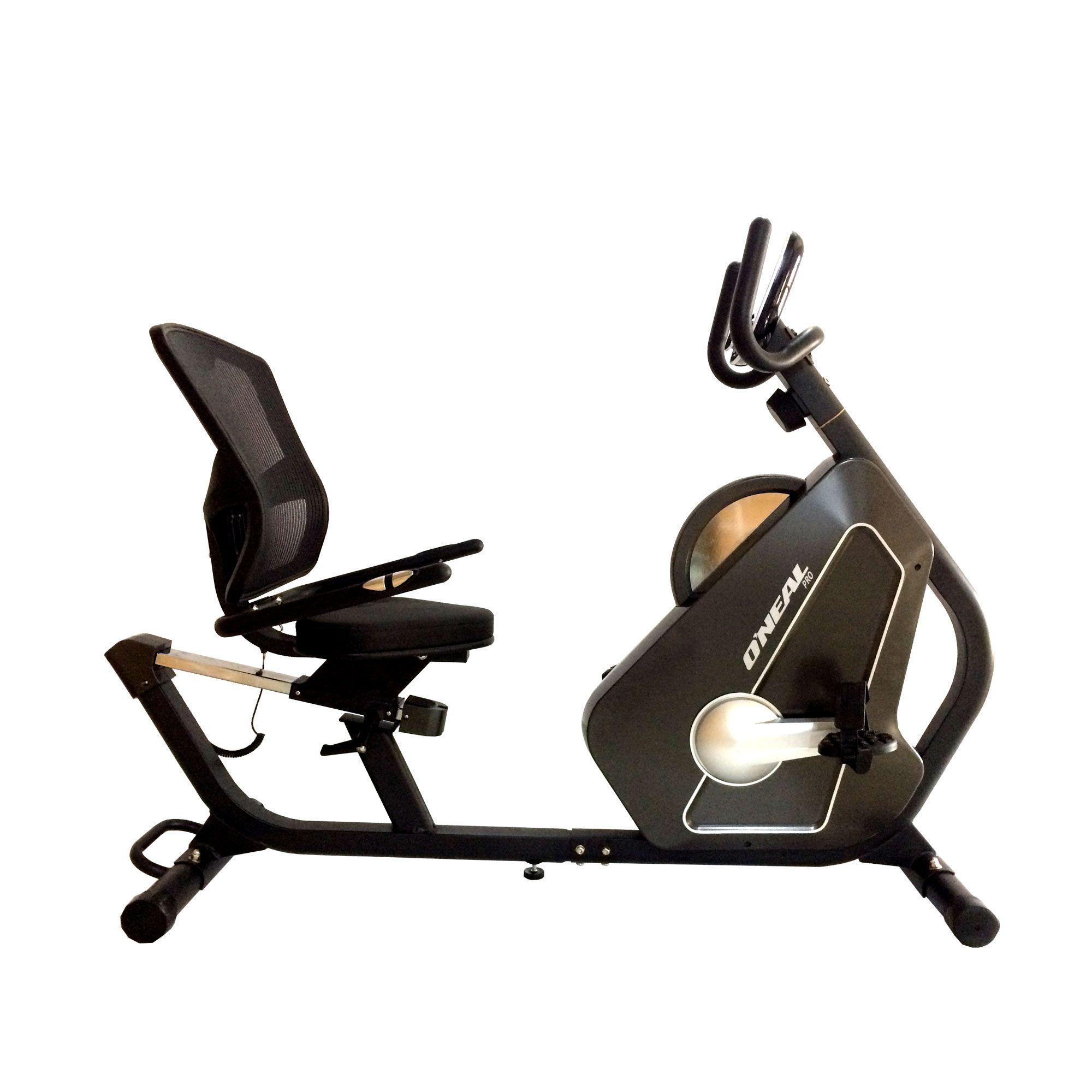 Bicicleta ergometrica horizontal semi-profissional 130kg tp720 oneal