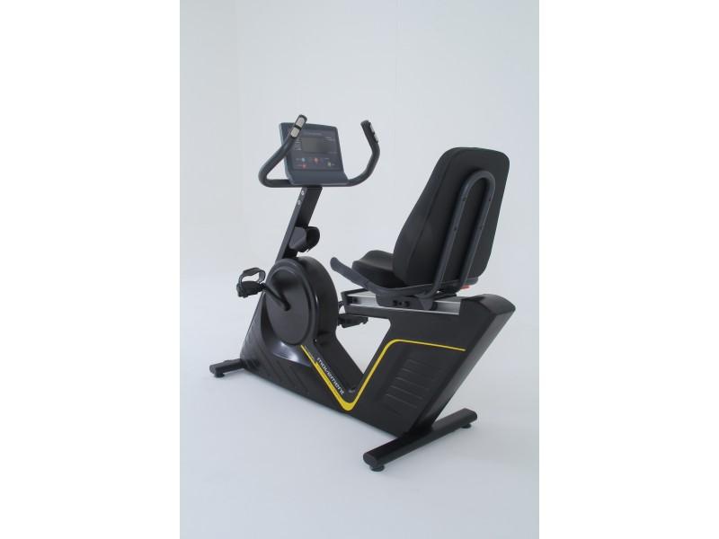Bicicleta ergometrica horizontal preta 150kg movement rt230