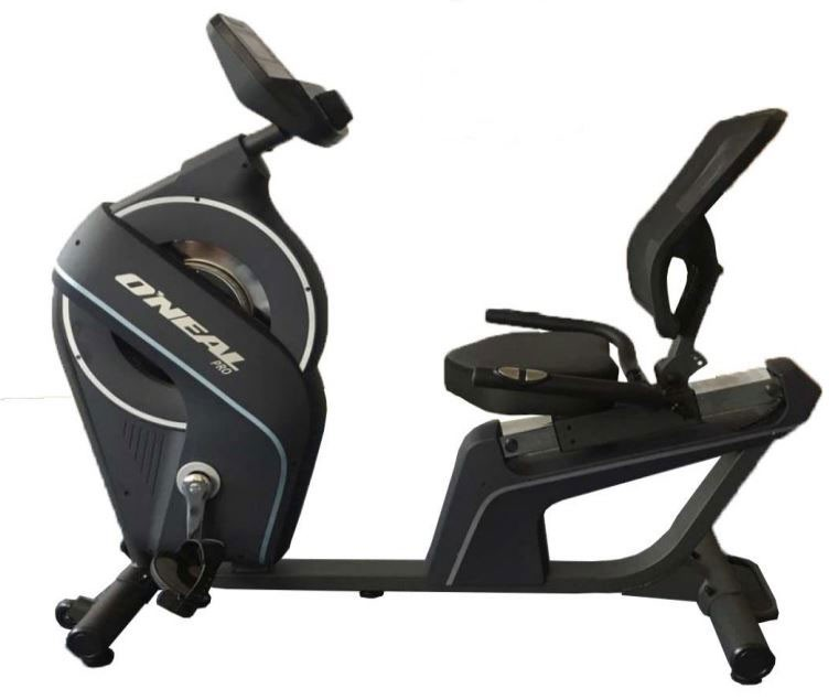 Bicicleta ergometrica horizontal preta 130kg oneal tp760