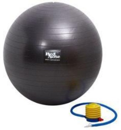 Bola ginastica borracha anti explosão 150kg 75cm red nose