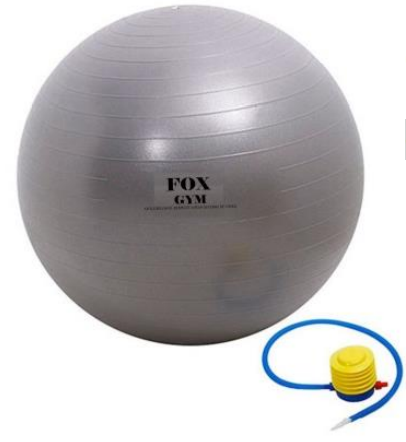 Bola ginastica borracha 65cm fox gym