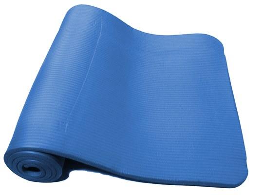 Colchonete tapete yoga pilates 1,80m pvc azul oneal