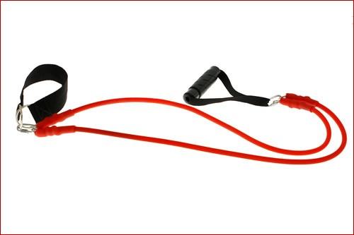 Extensor 2 elasticos manopla fixacao parede fg fitness