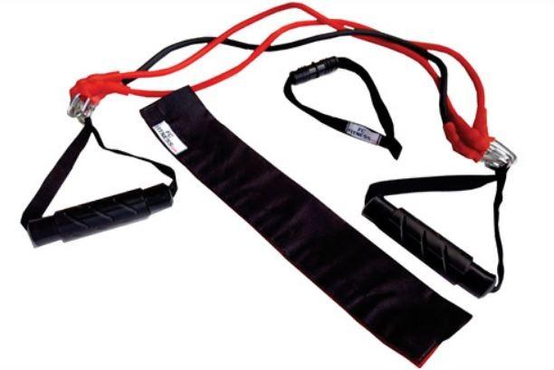 Extensor 3 elasticos 2 manoplas suporte porta apoio pes