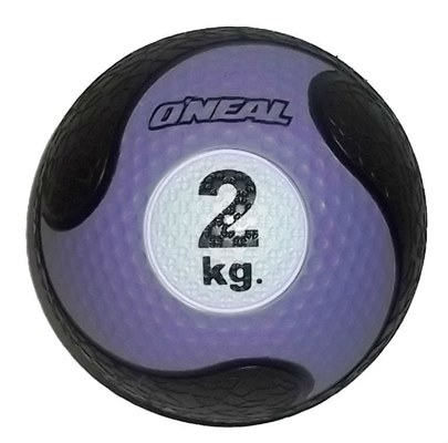 Medicine ball 2kg borracha roxa unisex yoga pilates oneal