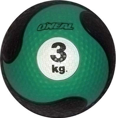 Medicine ball 3kg borracha verde unisex yoga pilates oneal