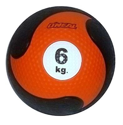 Medicine ball 6kg borracha laranja unisex yoga pilates oneal