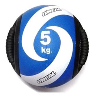 Medicine ball alça 5kg borracha azul unisex yoga oneal