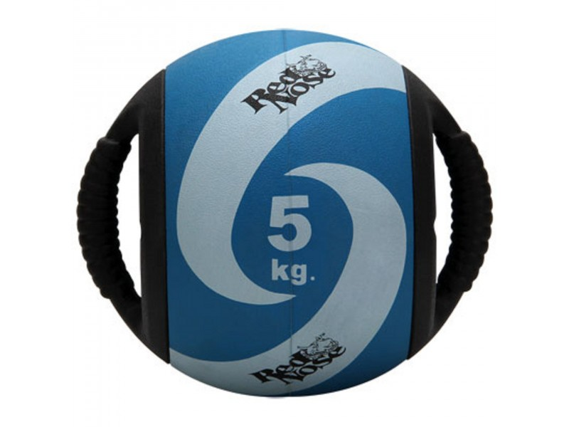 Medicine ball alça 5kg borracha azul unisex yoga red nose