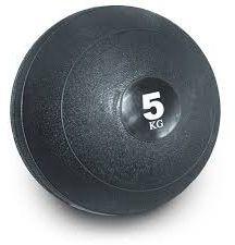 Slam ball bola de areia 5kg borracha preta crossfit oneal