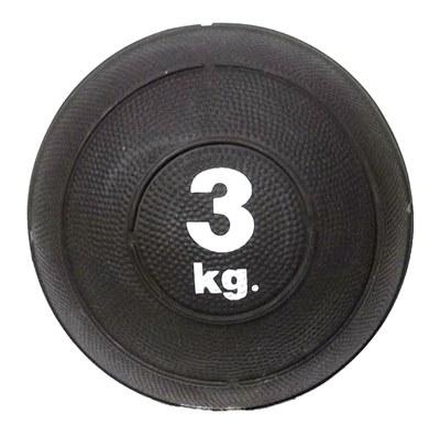 Slam ball bola de areia 3kg borracha preta crossfit oneal