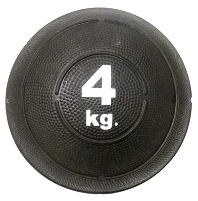 Slam ball bola de areia 4kg borracha preta crossfit oneal