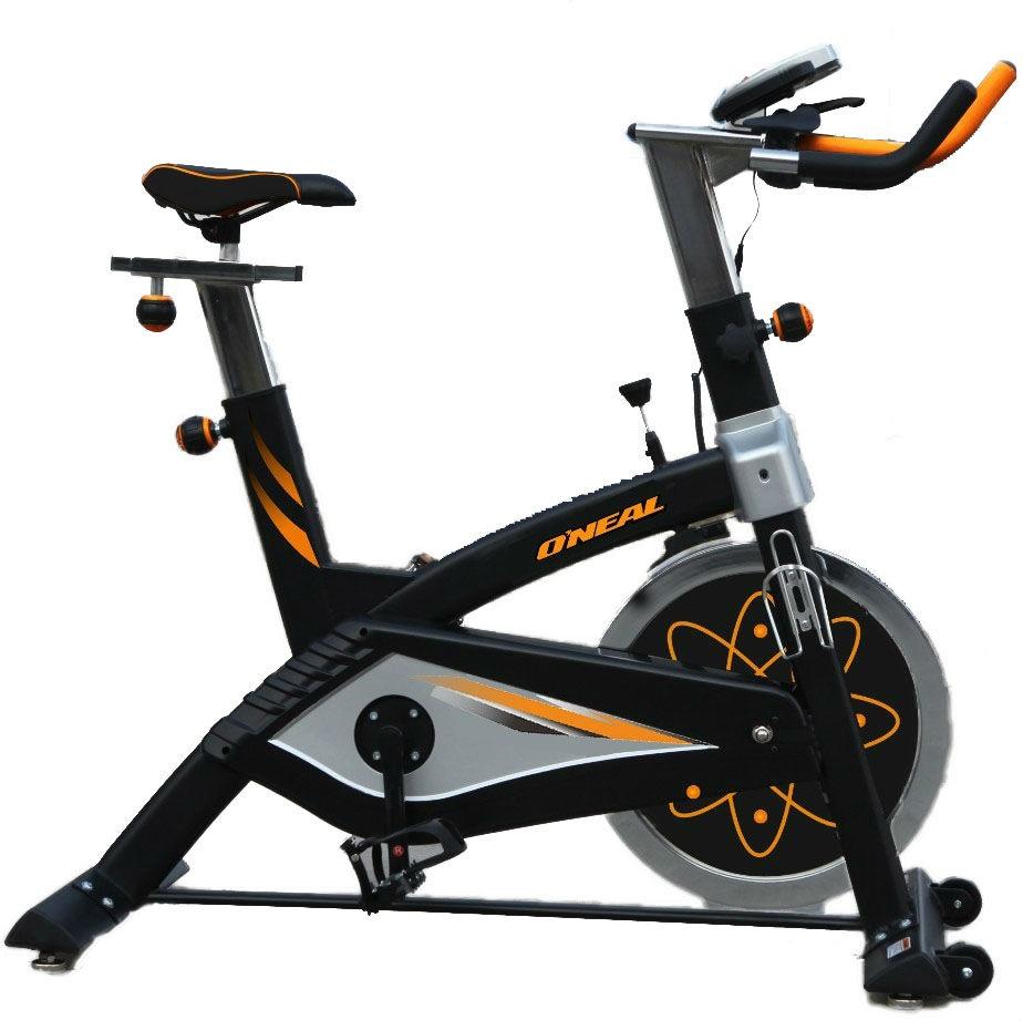 Bicicleta ergometrica spinning preta 120kg oneal bf068