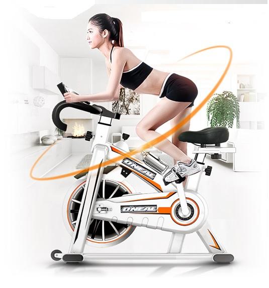 Bicicleta ergometrica spinning branca 120kg oneal tp1100