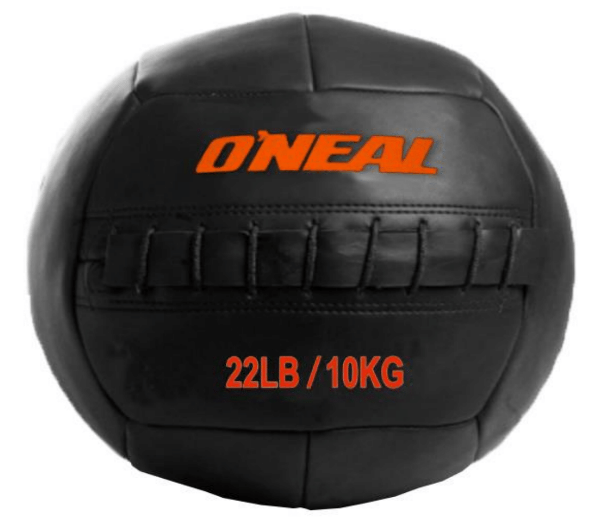 Wall ball bola de areia couro 10kg crossfit preta oneal