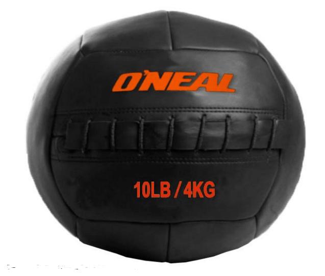 Wall ball bola de areia couro 4kg crossfit preta oneal
