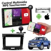 Central Multimidia com Moldura Ford Ranger Mp5 Bluetooth Usb Touchscreen 7 Polegadas 2 Din  Poliparts