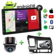 Central Multimídia com Moldura Honda Civic Mp5 Bluetooth Usb Touchscreen 7 Polegadas 2 Din 2007 a 2011 Atacado