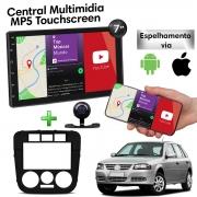 Central Multimidia com Moldura Volkswagen Gol G4 Mp5 Bluetooth Usb Touchscreen 7 Polegadas 2 Din Atacado