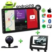 Central Multimídia Fiat Strada Muzik Android com Câmera 9 Polegadas 2 Din 2021 Moldura Black Piano Poliparts