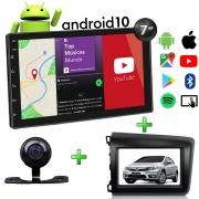Central Multimídia Honda Civic Muzik Android com Câmera de Re 7 Polegadas 2 Din Moldura Grafite 2012 a 2016 Atacado Poliparts