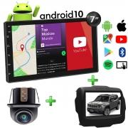 Central Multimídia Jeep Renegade Muzik Android com Câmera de Ré 7 Polegadas 2 Din Moldura Poliparts