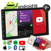 Central Multimídia Muzik Android 10 Bluetooth Gps Wifi 7 Polegadas 2 Din Poliparts