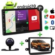 Central Multimídia Renault Kwid Muzik Android com Câmera de Ré 7 Polegadas 2 Din Moldura Atacado Poliparts