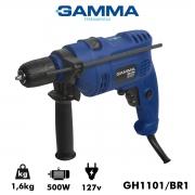 "Furadeira de Impacto Gamma 10 mm 500 Watts 3/8"" 127v Poliparts"