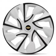 Jogo de Calotas Chevrolet DS4 Branco Aro 14 Universal Poliparts