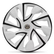 Jogo 4 Calota DS4 Black White Aro 14 Rodas Volkswagen 4x100 / 4x108 / 5x100 Universal Vw