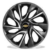 Jogo 4 Calota DS4 Sport Cup Aro 15 Rodas Chevrolet 4x100 / 4x108 / 5x100 Universal Gm