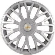 Jogo 4 Calota Triton Sport Aro 14 Prata Rodas Chevrolet 4x100 / 4x108 / 5x100 Universal Gm