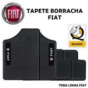 Jogo de Tapete Automotivo para Todos Carros Fiat Emborrachado Preto Antiderrapante Impermeável Universal com Logo Bordado e Personalizado
