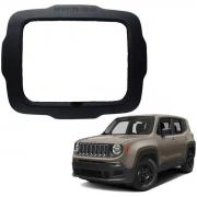 Moldura Jeep Renegade 2015 a 2019 9 Polegadas 2 Din Preto Poliparts