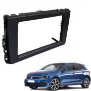 Moldura Volkswagen Novo Polo/Virtus 2018 9 Polegadas 2 Din Black Piano Poliparts