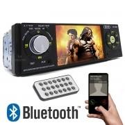 Mp5 automotivo Universal Bluetooth Tela Aux Fm USB SD Atendimento Celular Completo