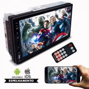Som Multimidia First Option Mp5 Player 2Din 7 Polegadas Universal Espelhamento Celular Bluetooth Usb Sd Carro Automotivo Aparelho